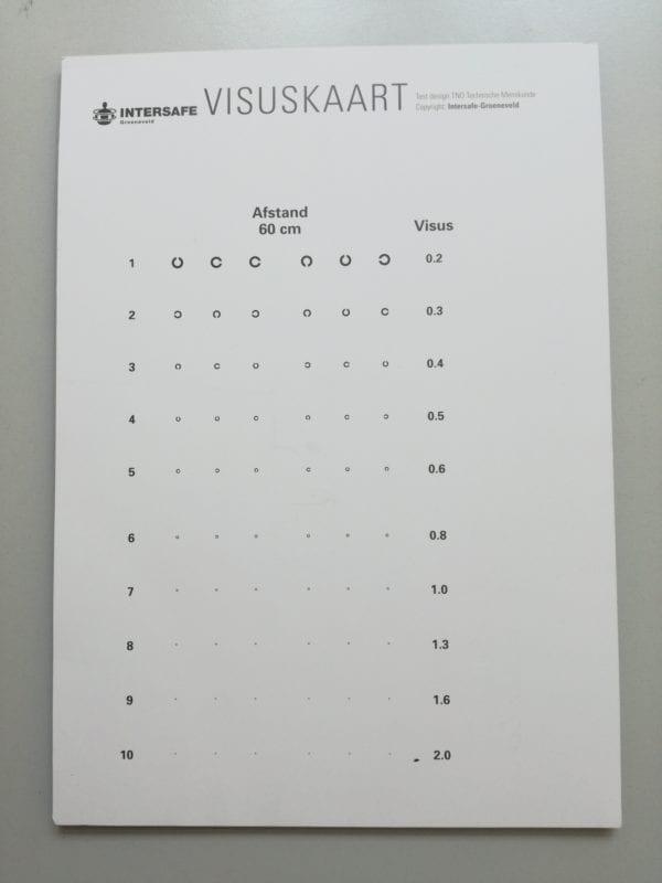 40-60 cm visuskaart